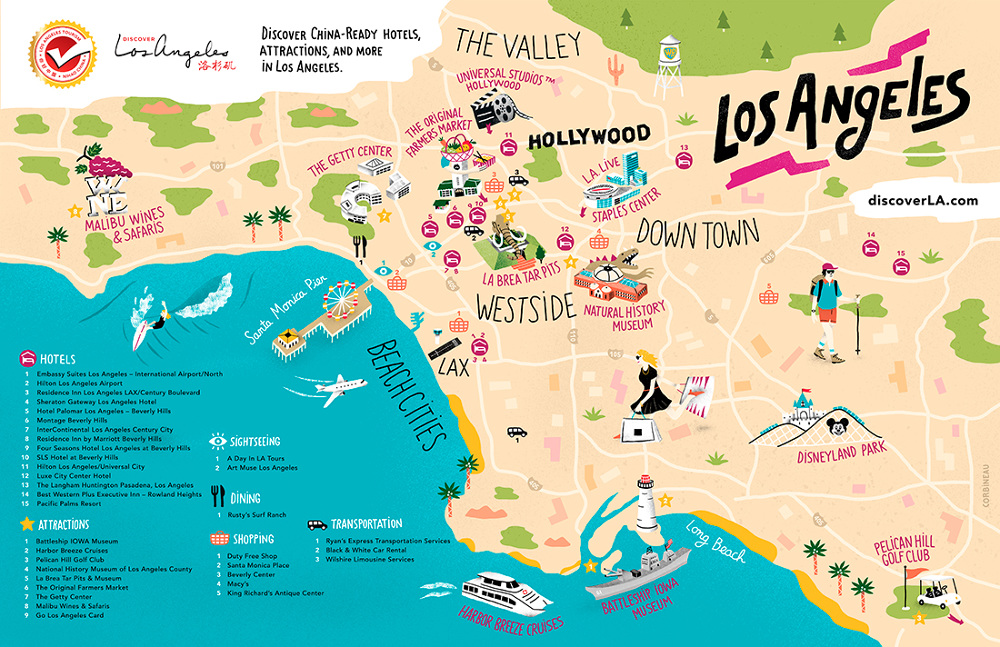 Los Angeles Tourism   Antoine Corbineau • Illustration & Design